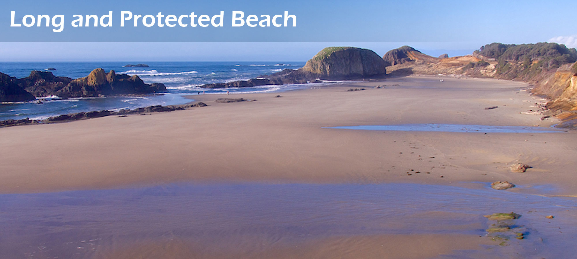 Long and Protected Beach