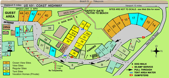 Seal Rocks RV Cove park map